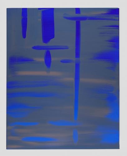 "Wanda Koop, ""Reflect (Ultramarine Deep-Ash Blue),"" 2018"