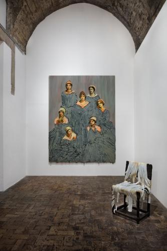 Installation view, One Day I Broke a Mirror, Villa Medici, Rome, 2017.