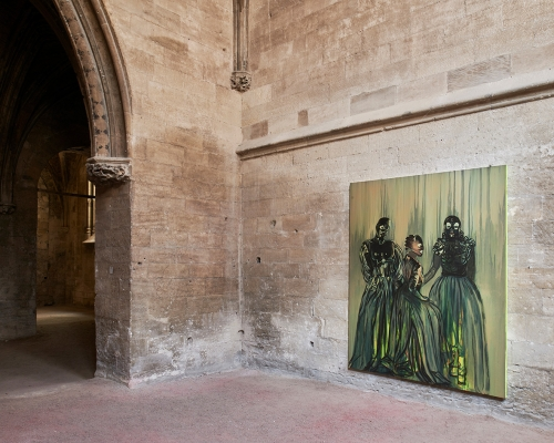 Installation view, L'Errante, as part of the Festival d'Avignon, Eglise des Celestins, Avignon, France, 2018