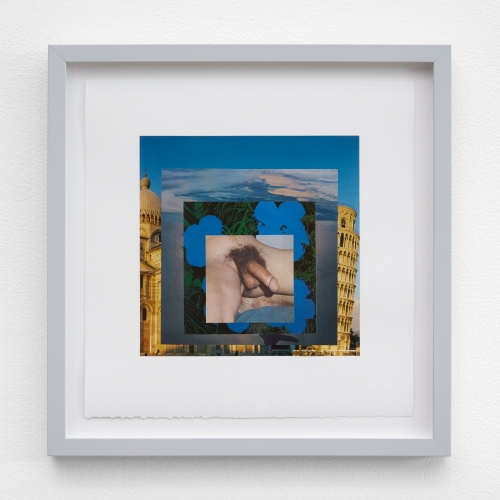 "William E. Jones, ""Homage to the Square 18 (Pisa—Hokkaido—Andy Warhol—penis),"" 2019"