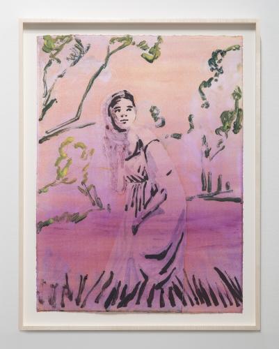 "Claire Tabouret, ""Prendre Racine, violet,"" 2018"