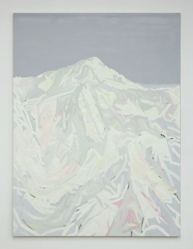 "Andy Woll, ""Mt. Wilson (white, yellow, pink, green, grey),"" 2015"