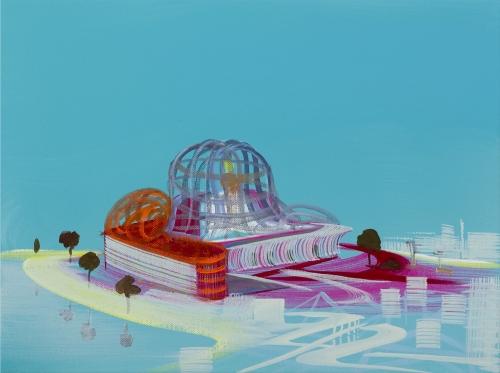 """""""Expovilion - Untitled,"""" 2007, acrylic on canvas."""