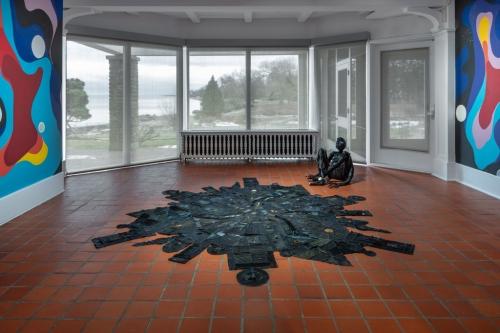 Sparkle's Map Home, installation view at Oakville Galleries, Oakville, Ontario, 2020.