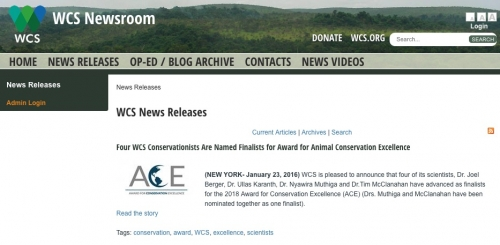 WCS Newsroom-News Releases