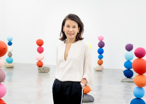 Tina Kim at Tina Kim Gallery Installation of Gimhongsok Balloons