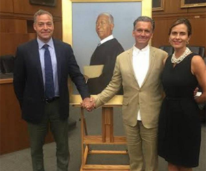 Bo Bartlett paints portrait of former U.S. District Court Judge Ricardo Urbina