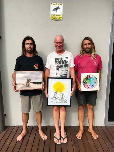 SA Rips, Paul McNeil, James McMilla, Byron Bay Surf Festival Art Show at Lone Goat Gallery