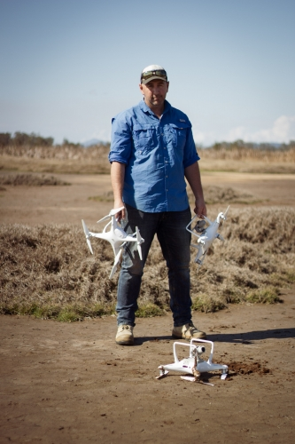 Stu Murphy Drone photography Grafton Wetlands portrait