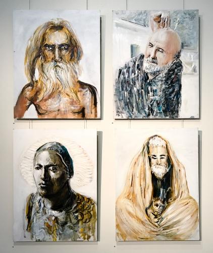 Alex Carletti artworks at Lone Goat Gallery 2017
