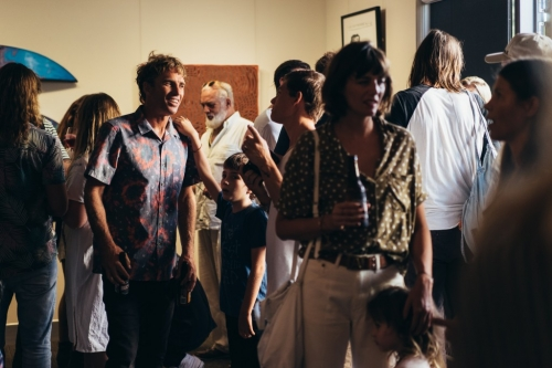 Byron Bay Surf Festival  Surf Culture Now Art Show Opening Night Lone Goat Gallery 2017
