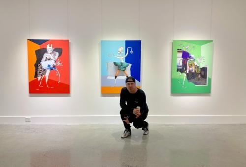 Michael Stiegler portrait Lone Goat Gallery  2019