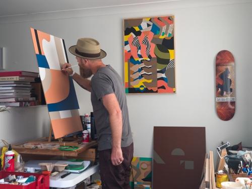 Greg Hodgson in the studio. 2019.