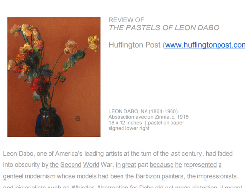 Review Of The Pastels Of Leon Dabo