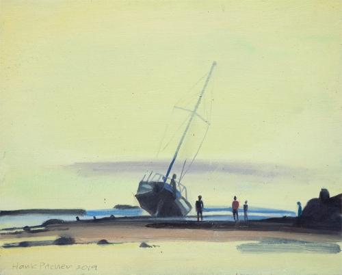 HANK PITCHER, Shipwreck III, 2019 for LUM ART ZINE article by Kit Boisse Cossart on Hank PItcher