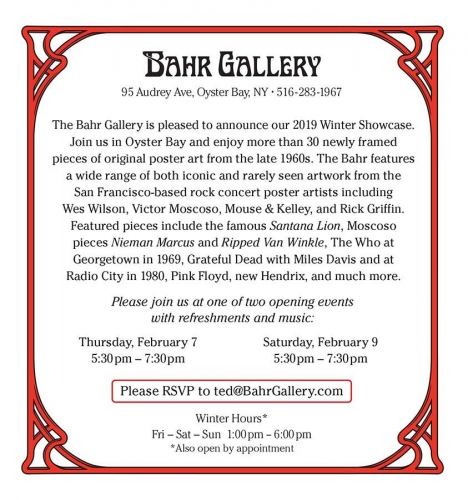 The Bahr is Back - Winter Showcase Opening Feb 8