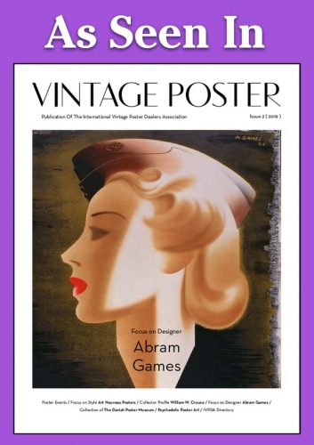Bahr Gallery Story in Vintage Poster Magazine