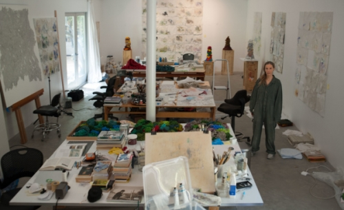 ARTIST LIZA LOU BREAKS GROUND AT LEHMANN MAUPIN'S NEW CHELSEA LOCATION