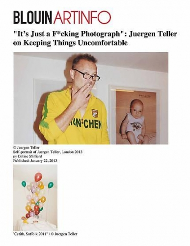 """""""It's Just a F*cking Photograph"""": Juergen Teller on Keeping Things Uncomfortable"""