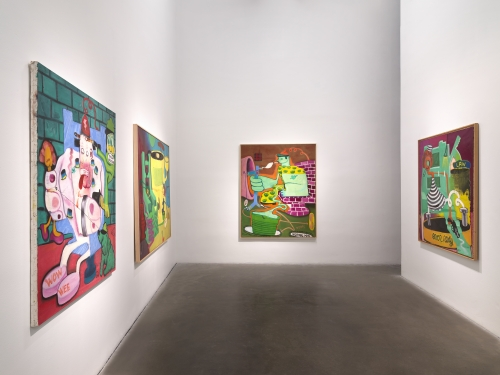 Peter Saul at the New Museum Text