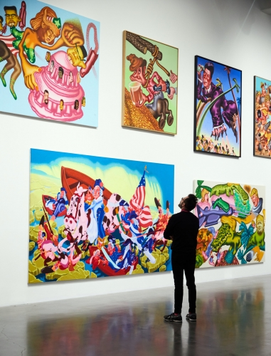 Peter Saul in the New York Times