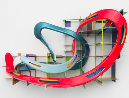 leeuwarden II, a neon colored sculpture by frank stella available for sale in his exhibition
