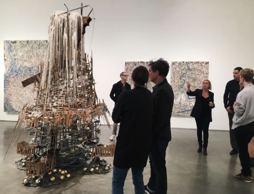 an exhibition of Diana Al-Hadid's work published in an art publication