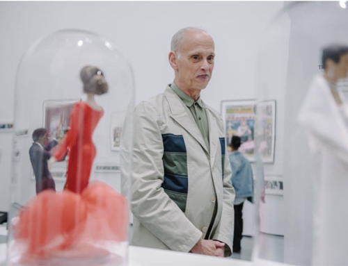 John Waters touring his own exhibition at the Baltimore Museum of Art