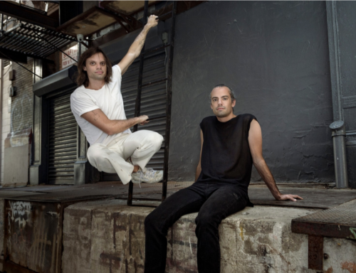 A portrait of the artist brothers Niki and Simon Haas