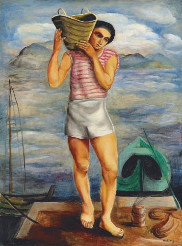 Moise Kisling, Pêcheur, 1940 Oil on canvas 82 x 61.7 cm. (32 1/4 x 24 1/4 in.)