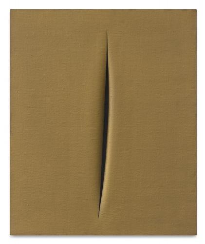 Lucio Fontana, Concetto Spaziale, Attesa, 1964 Oil on canvas 70 x 60.3 cm. (28 3/4 x 23 3/4 in.)