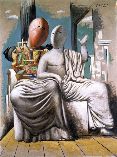 Giorgio de Chirico, I filosofi greci (The Greek Philosophers), 1925 Oil on canvas 113 x 84.7 cm. (44 1/2 x 33 3/8 in.)