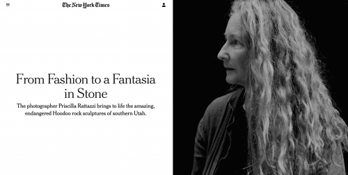 The New York Times: From Fashion to a Fantasia in Stone