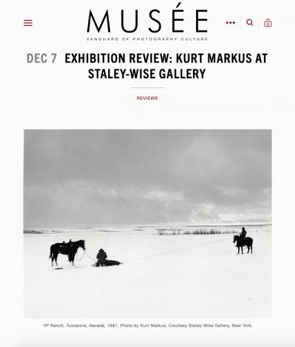 Musée Magazine: Kurt Markus at Staley-Wise Gallery