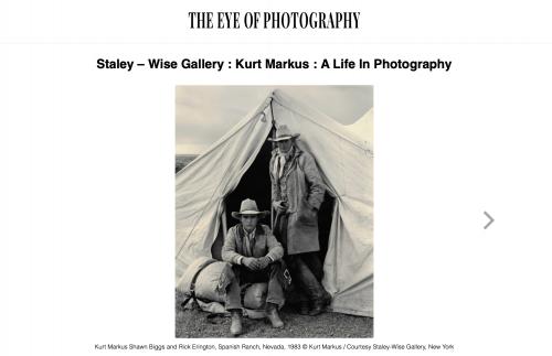 L'Œil de la Photographie: Kurt Markus - A Life In Photography