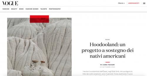 VOGUE Italia: Hoodooland: un progetto a sostegno dei nativi americani