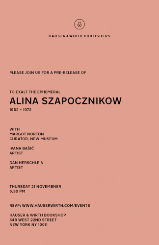 Dan Herschlein Discusses Alina Szapocznikow at Hauser and Wirth