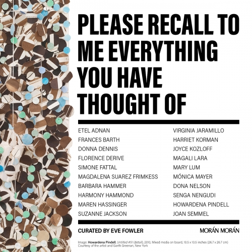 Please Recall to Me Everything You Have Ever Thought Of