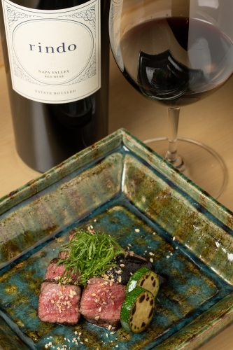red wine paired with A5 Wagyu beef