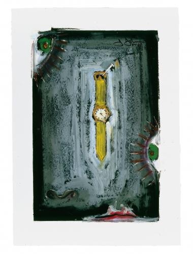 Jasper Johns Untitled artwork from 1987 / 2008, pigment stick over intaglio