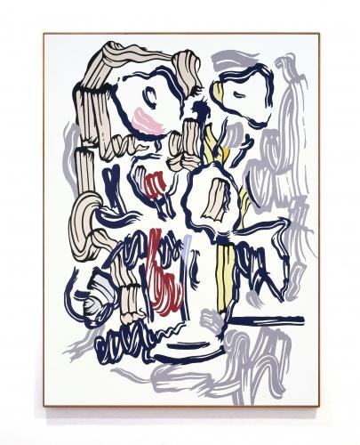 Roy Lichtenstein, Brushstroke Paintings (1980s)