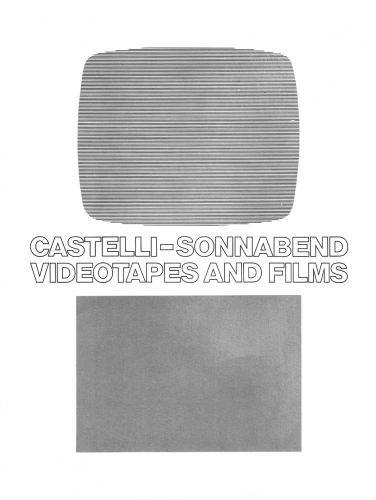 Castelli/Sonnabend Videotapes and Films