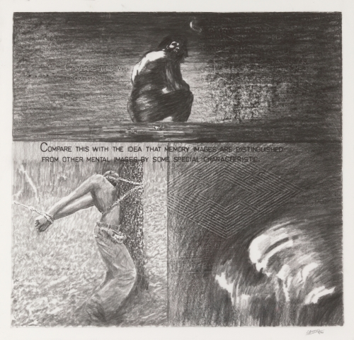 Image of Robert Morris drawing titled Investigations, from 1990