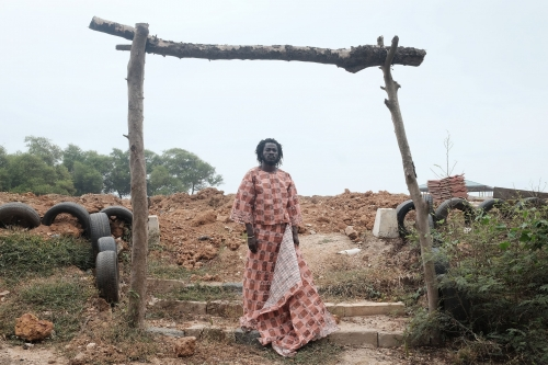 Serge Attukwei Clottey Photographed by Dennis Akuoku-Frimpong Vogue