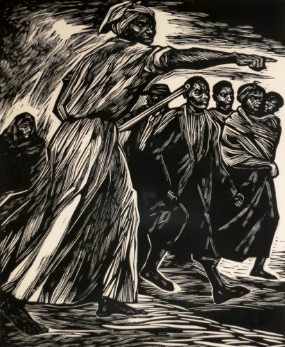"""Harriet, 1975, Linocut, H 12.25"""" x W 10"""", Signed and Dated Lower Right"""