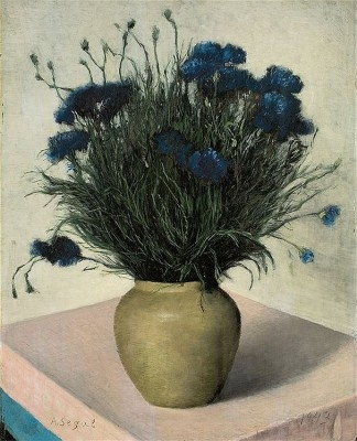 Cornflowers in Ceramic Vase, 1943
