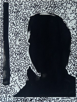 Untitled (Shadow Head #6), circa 1990's