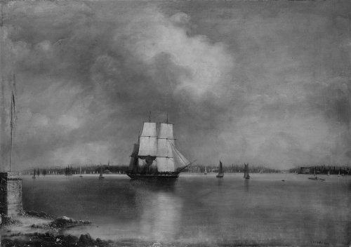 Bay and Harbor of New York from Bedlow's Island, ca. 1865