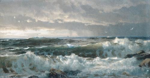 William Trost Richards, Surf on Rocks, 1890s