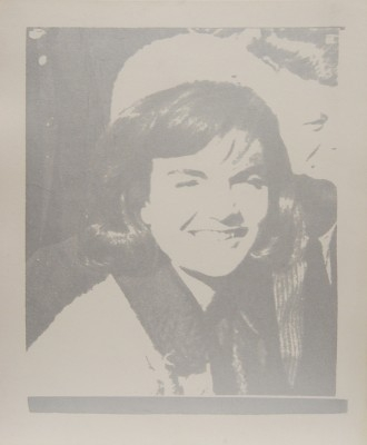 "Andy Warhol, 1928 - 1987, Jacqueline Kennedy (Jackie I), 1966, Screenprint in Silver on Paper, H 24"" x W 20"", Stamped Verso - ""Andy Warhol"""